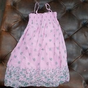 Gap girls small dress pink with flowers